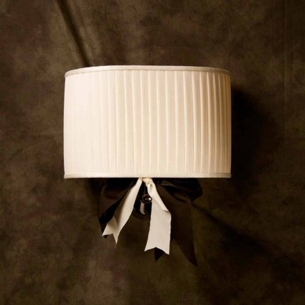 Vintage design ivory silk wall lamp Chanel