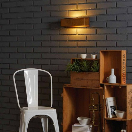 Design wall lamp in brass and steel 35xH 10xsp.9 cm Harya