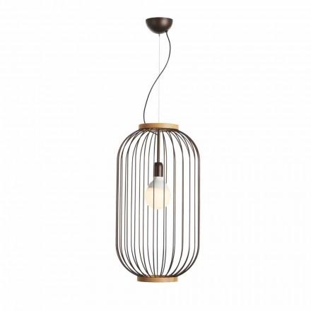 Suspension lamp in steel diameter 35xH70xL.catalog cm Bibiana