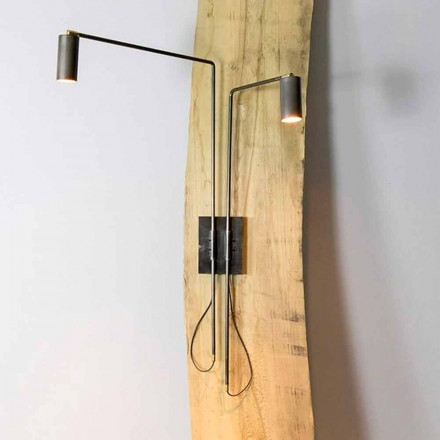 Wall Lamp in Iron and Artisan Aluminum Made in Italy - Gemina
