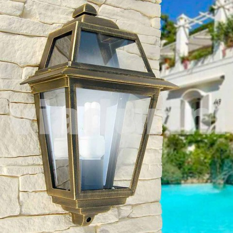 Wall lamp for classic outdoor made in Italy, Kristel aluminum