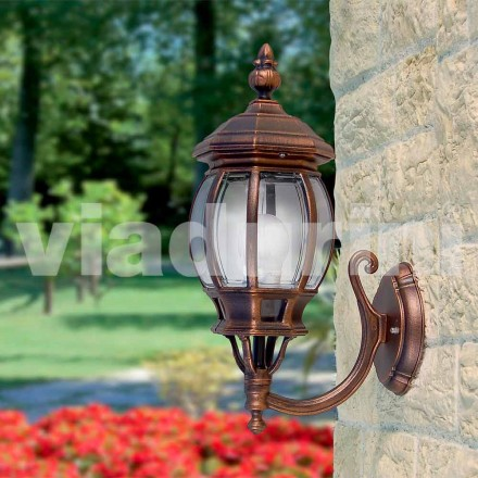 Outdoor wall lamp made with aluminum,  produced in Italy, Anika