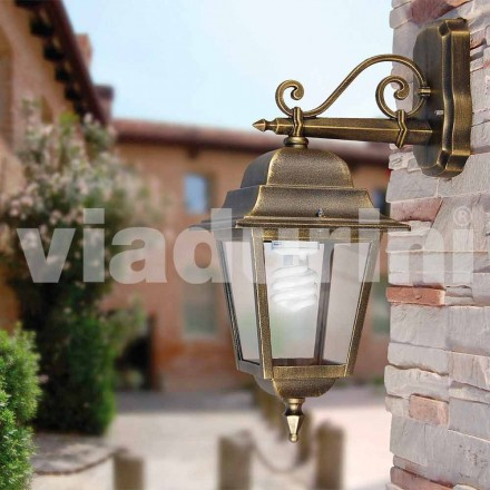 Garden wall lanterm made with aluminum, made in Italy, Aquilina