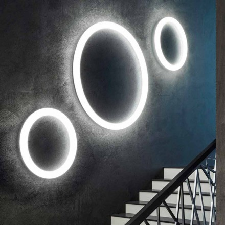 Modern Round LED Wall Lamp Made in Italy in Polyethylene - Slide Giotto