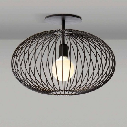 Modern ceiling lamp in painted steel, 48xH 35 cm, Heila