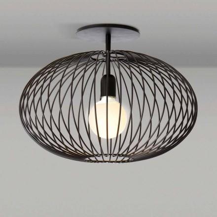 Modern ceiling lamp in painted steel, 48xH 35 cm, Heila