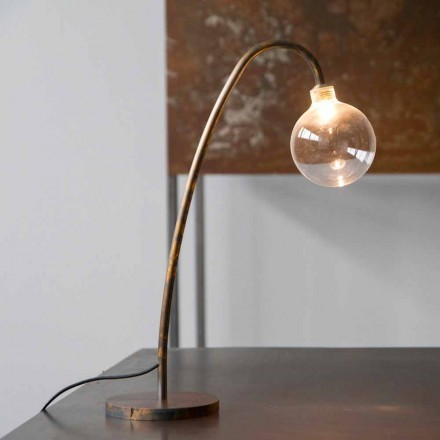 Handmade Iron Table Lamp Gold Finish Made in Italy - Ribolla