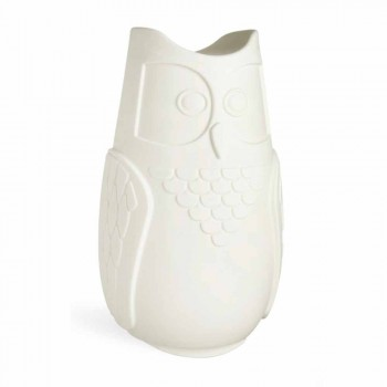 Slide Bubo colored table lamp of owl design made in Italy