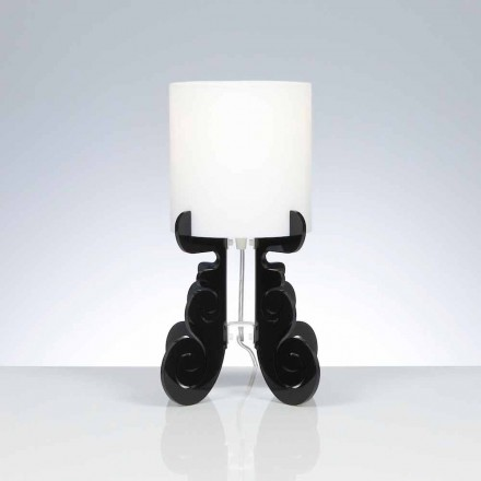 Modern design table lamp Samanta with cylindrical lampshade Ø 18,5 cm