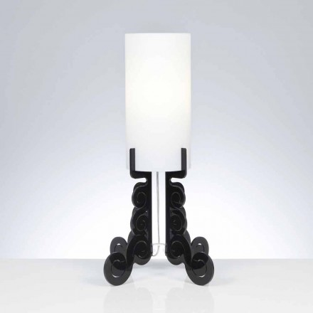 Modern design table lamp Samanta with cylindrical lampshade Ø 26,5 cm
