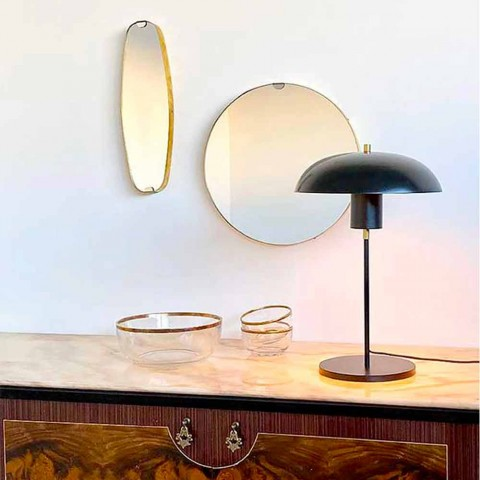Artisan Design Table Lamp in Iron and Aluminum Made in Italy - Marghe