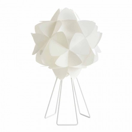 Modern design table lamp Kaly, pearl white, 46 cm diameter