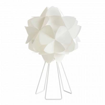 Modern design table lamp Kaly, pearl white, 46 cm diameter