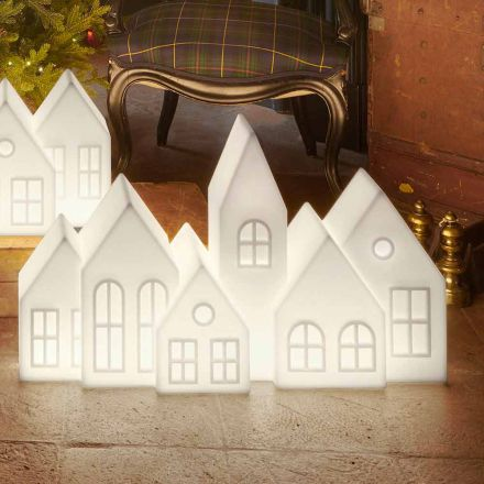 Design Table Lamp with White or Red Led Houses Design Slide - Kuusi