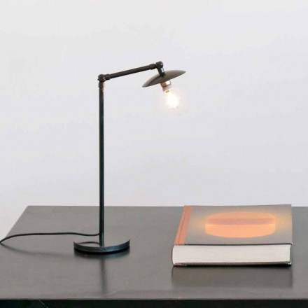 Iron Table Lamp with Adjustable Light Made in Italy - Amino