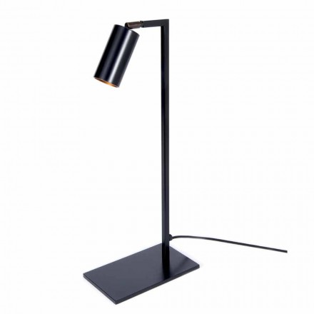 Table Lamp in Iron and Matt Black Aluminum with LED Made in Italy - Agio