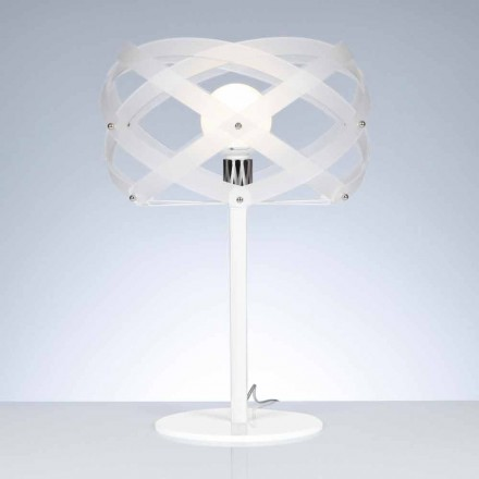 Design table lamp Vanna, made of white methacrylate satin finish