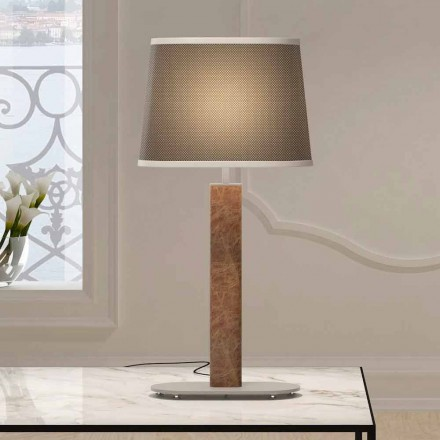 Metal Table Lamp with Fabric Lampshade Made in Italy - Jump