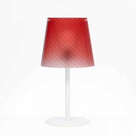 Table lamp Rania, polycarbonate with diamond decorations, 30 cm diam.
