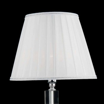 Ivy glass transparent and crystal glass table lamp, made in Italy