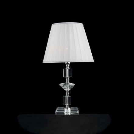 Classic design table lamp made of crystal and glass Ivy, made in Italy