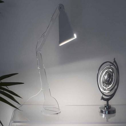 Tecno-style table/reading lamp with LED light, Flero