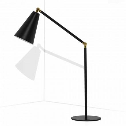 Modern Table Lamp with Metal Structure Made in Italy - Zaira