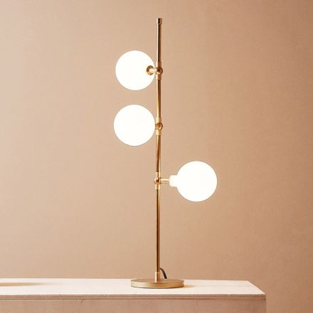 Modern Handmade Table Lamp in Brass with LED Made in Italy - Grippa