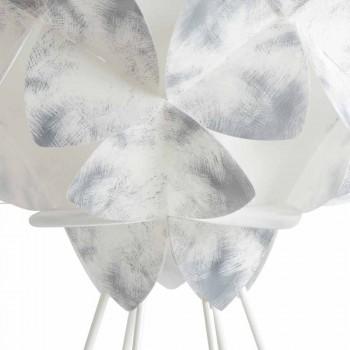 Modern table lamp in white metal, 46 cm diameter, Kaly