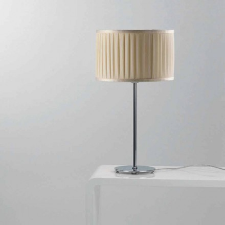 Modern design table lamp Bamboo with ivory colour silk cable