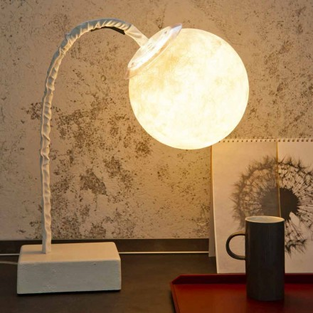 Table lamp modern flexible stem In-es.artdesign MicroT Luna