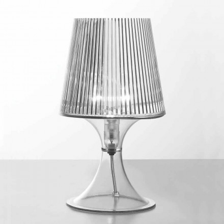 Modern design table lamp in transparent polycarbonate Frosinone