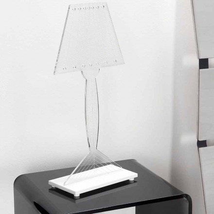 Moulded table lamp in plexiglass, LED light, Ferla