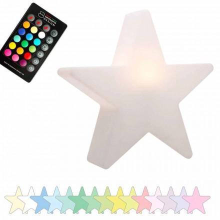 Solar or LED Table Lamp, Star Design in Polyethylene - Ringostar