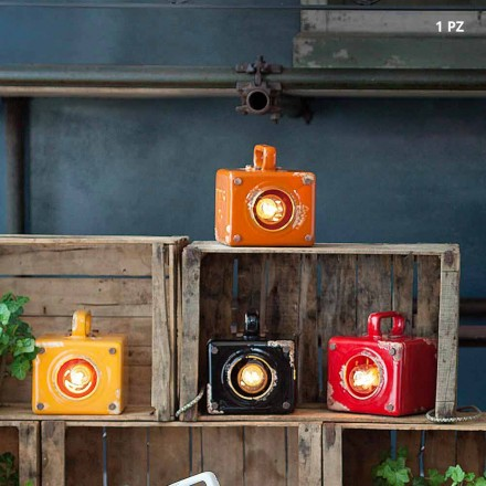Industrial-style table lamp in ceramic and iron Valerie