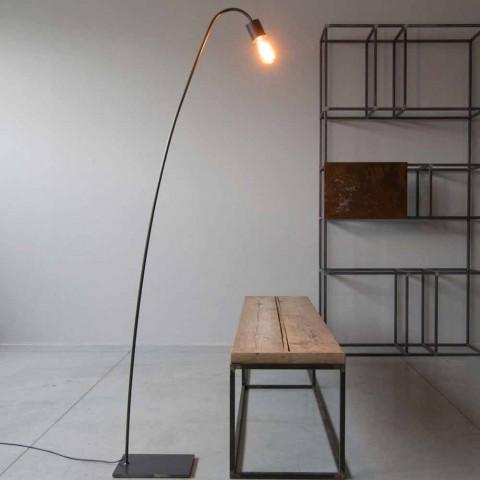 Artisan Design Floor Lamp in Black Iron Made in Italy - Curva