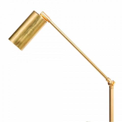 Artisan Floor Lamp in Natural Brass with LED Made in Italy - Agio
