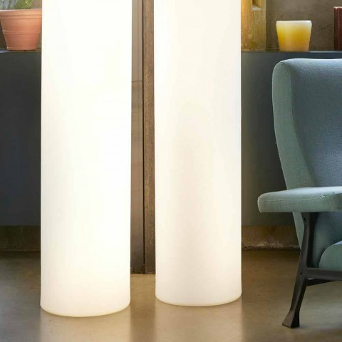 Slide Fluo cylindrical floor lamp made in Italy