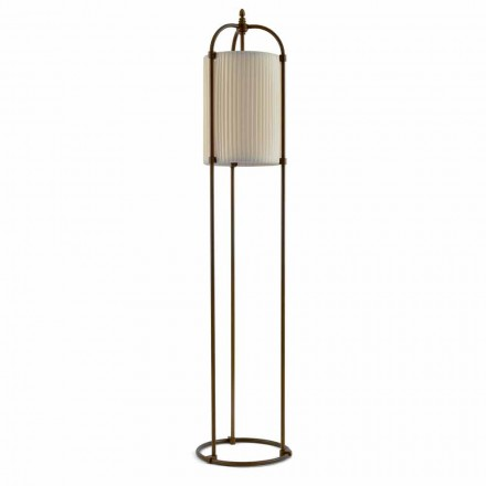 Modern floor lamp Huà Hikà made of brass and fabric