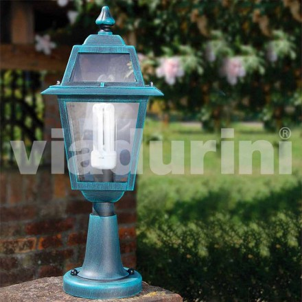 Outdoor floor lamp made with aluminum, made in Italy, Kristel
