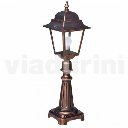 Outdoor floor lamp made with aluminum, produced in Italy, Aquilina