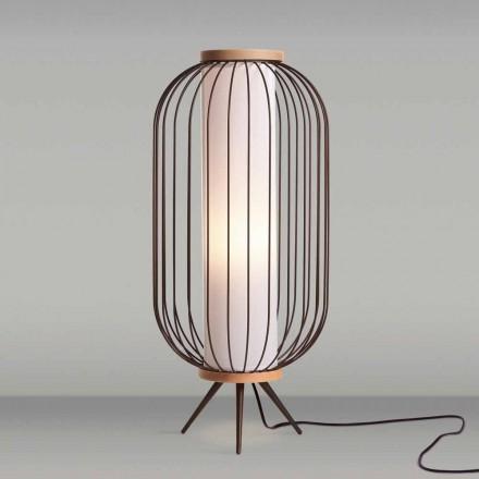 Modern design floor lamp in steel diameter 37xH80 cm Fanny