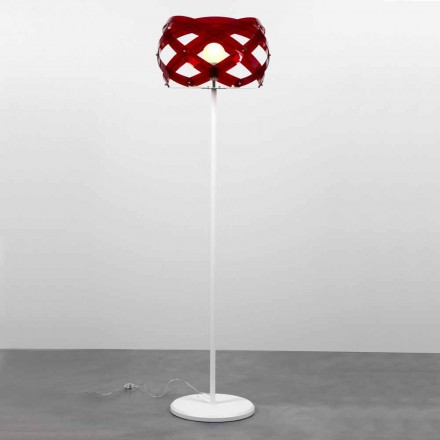Modern design methacrylate floor lamp Vanna, H 187 cm