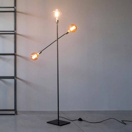 Design Floor Lamp in Iron with Adjustable Lights Made in Italy - Melita