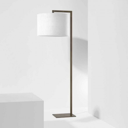 Design Floor Lamp in Metal with Linen Lampshade Made in Italy - Bali