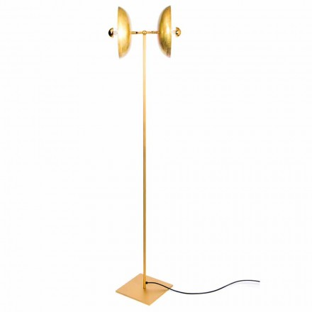 Handmade Floor Lamp in Natural Brass Made in Italy - Salina