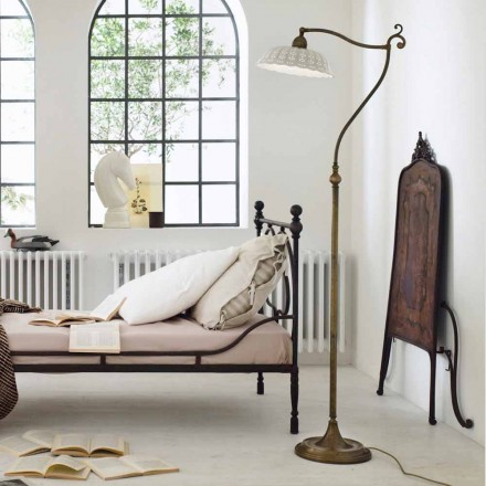 Vitage style ceramic floor lamp Anita Il Fanale, made in Italy