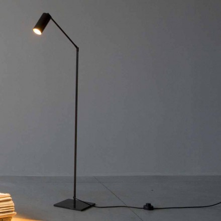 Floor Lamp in Iron and Aluminum with Adjustable Light Made in Italy - Farla