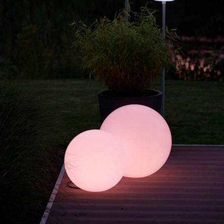 Multicolor Led Floor Lamp in White polyethylene, Round Design - Globostar