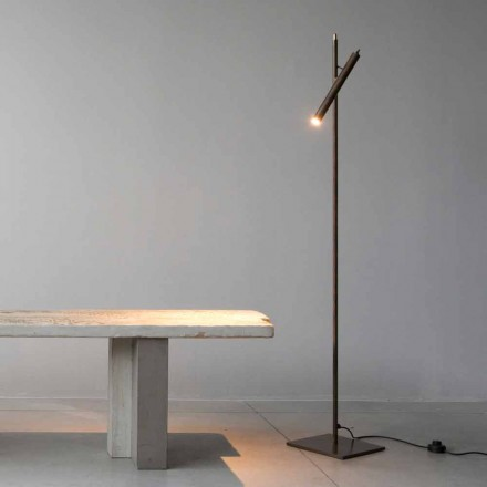 Floor Lamp in Iron Material Gold Finish Made in Italy - Ginia
